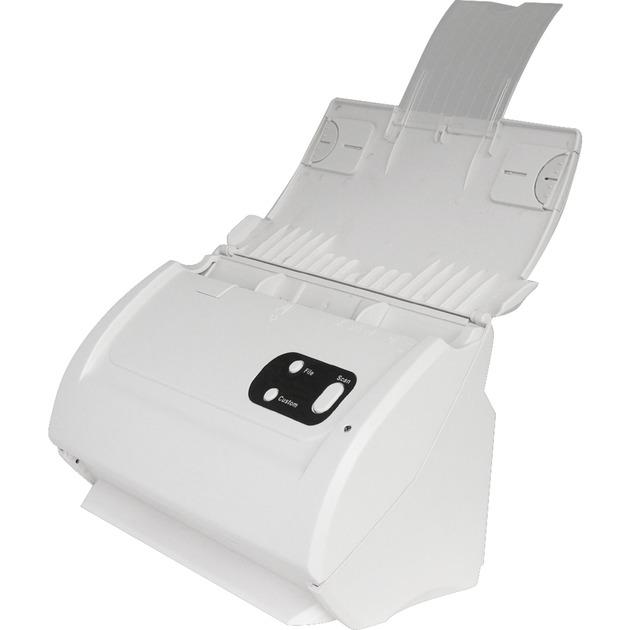 SmartOffice PS283 Escáner con alimentador automático de documentos (ADF) 600 x 600DPI A4 Blanco, Escáner de alimentación de hojas