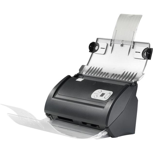SmartOffice PS286 Plus Escáner con alimentador automático de documentos (ADF) 600 x 600DPI A4 Negro, Plata, Escáner de alimentación de hojas