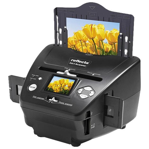 64220 escaner 2300 x 2300 DPI Escáner de negativos/diapositivas Negro, Escáner de diapositivas