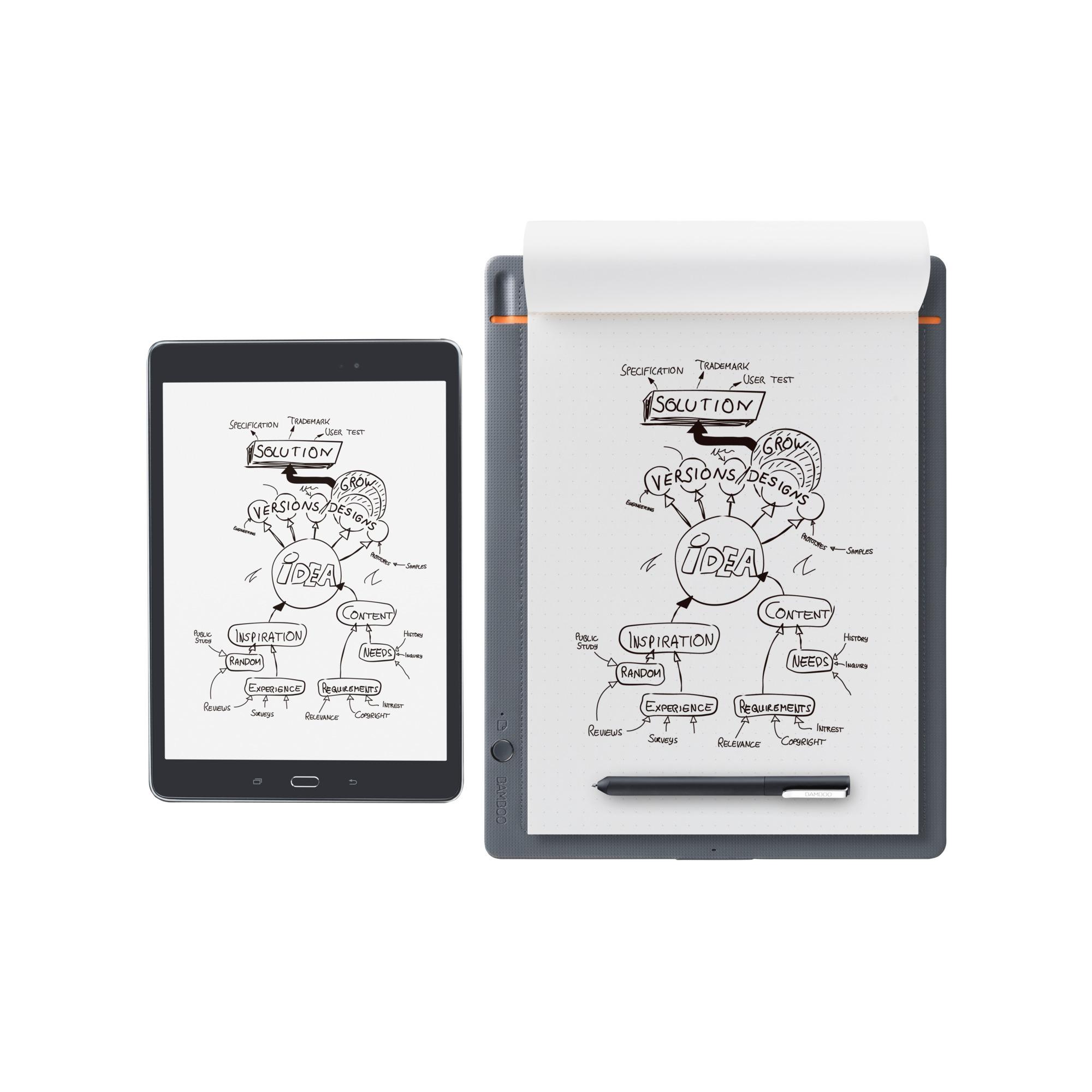 Bamboo CDS-810S Gris, Naranja tableta digitalizadora, Tableta gráfica