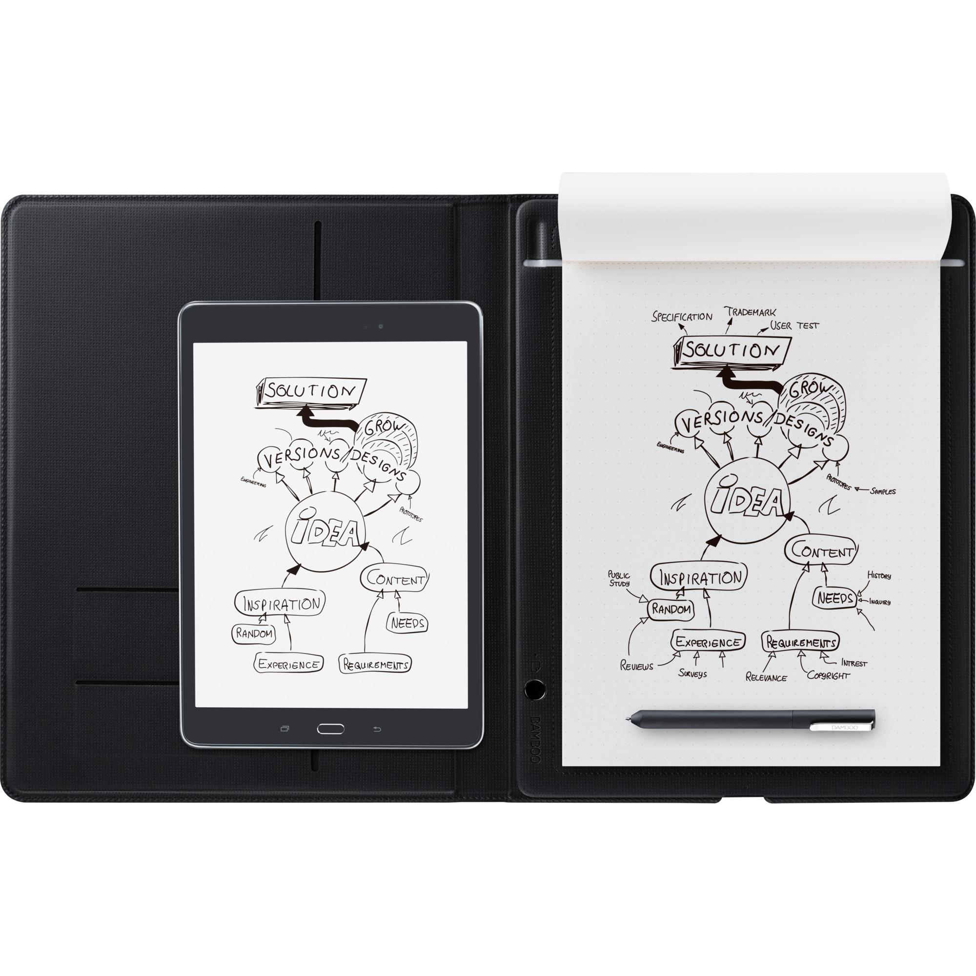 Bamboo Folio tableta digitalizadora 210 x 297 mm USB Gris, Tableta gráfica