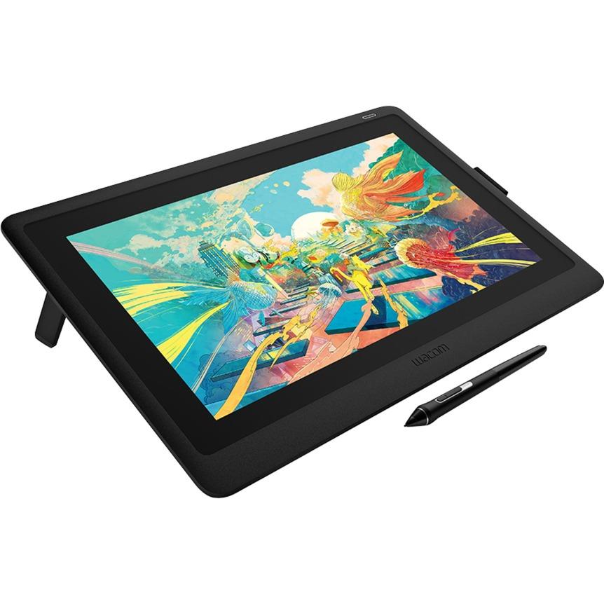Cintiq 16 tableta digitalizadora 5080 líneas por pulgada 344,16 x 193,59 mm Negro, Tableta gráfica