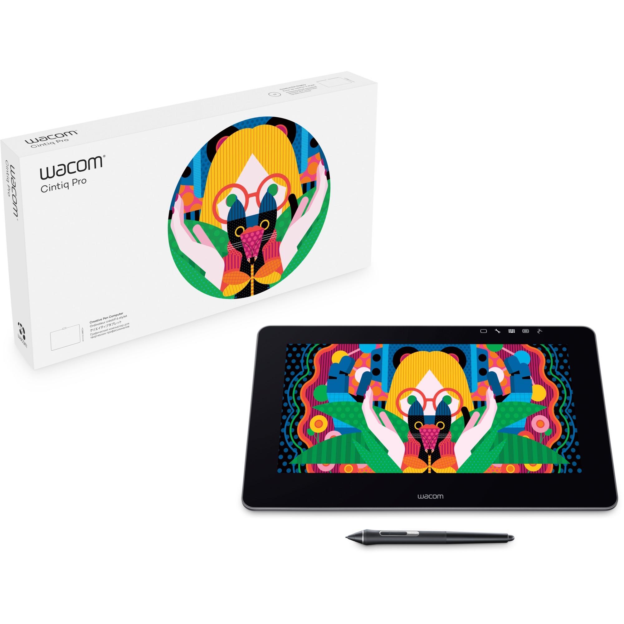 Cintiq Pro 13 tableta digitalizadora 5080 líneas por pulgada 294 x 166 mm USB Negro, Tableta gráfica