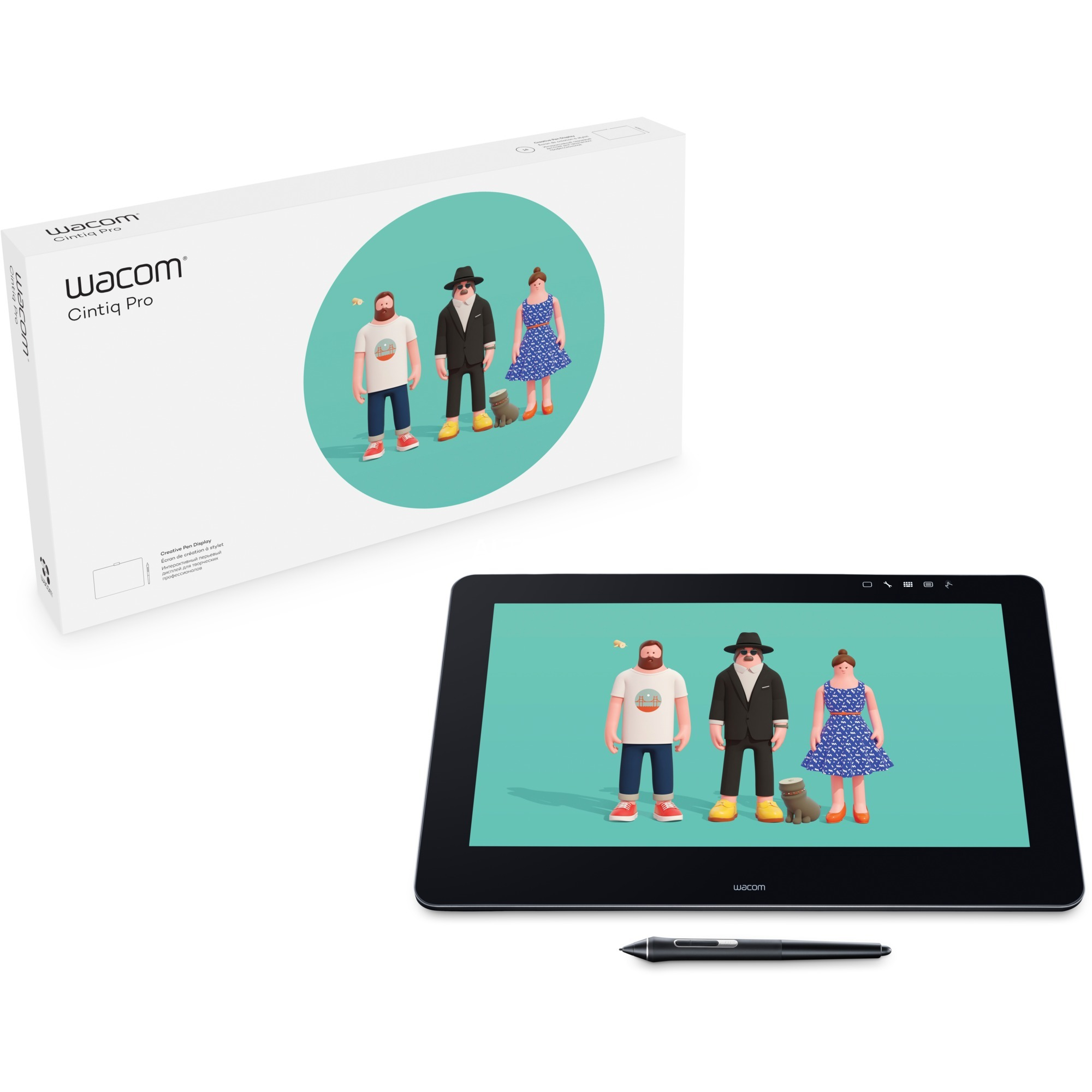 "Cintiq Pro 16"" tableta digitalizadora 5080 líneas por pulgada 345 x 194 mm USB Negro, Tableta gráfica"