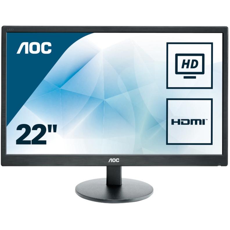 """E2270SWHN 21.5"""" Full HD Mate Negro Plana pantalla para PC LED display, Monitor LED"""