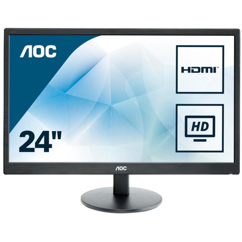 """E2470SWHE 23.6"""" Full HD LCD Negro pantalla para PC LED display, Monitor LED"""