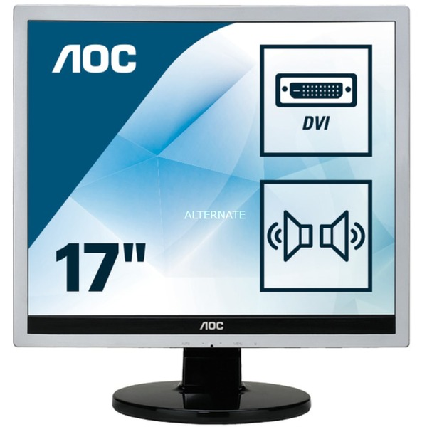 "Essential-line E719SDA LED display 43,2 cm (17"") SXGA LCD Plana Mate Negro, Monitor LED"