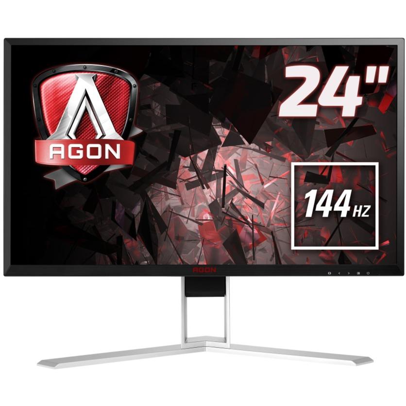 """Gaming AG241QX 23.8"""" Wide Quad HD LED Negro, Rojo pantalla para PC, Monitor LED"""