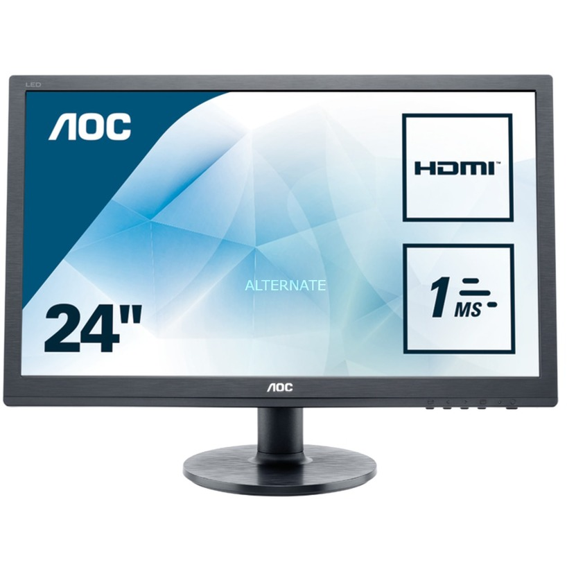 """e2460Sh 24"""" Full HD Negro pantalla para PC, Monitor LED"""
