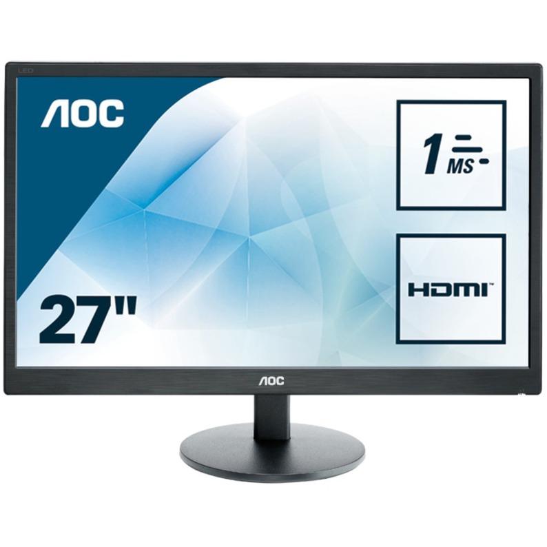 "e2770Sh 27"" Full HD TN Mate Negro Plana pantalla para PC, Monitor LED"