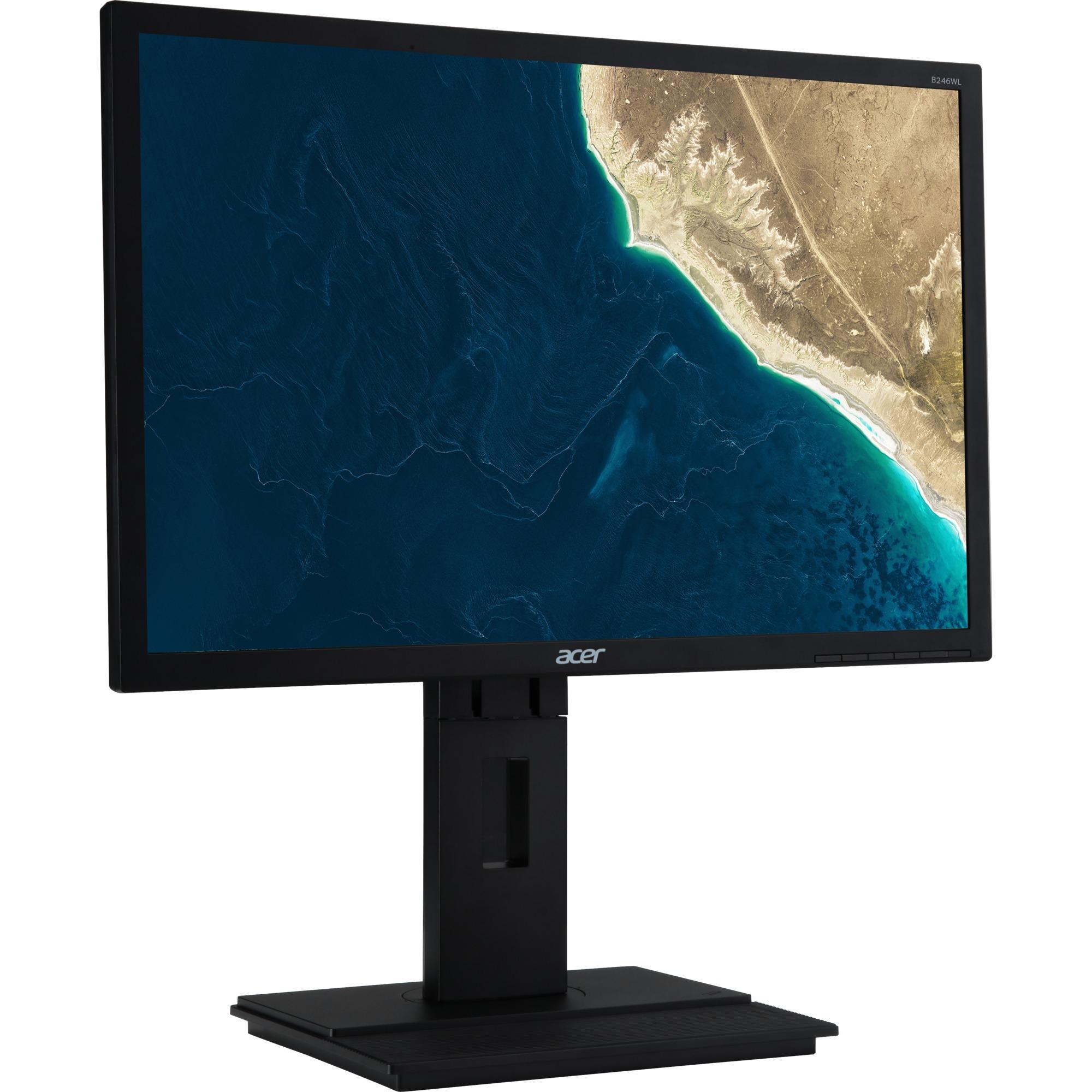 "B6 B246WLA pantalla para PC 61 cm (24"") Full HD LED Plana Negro, Monitor LED"