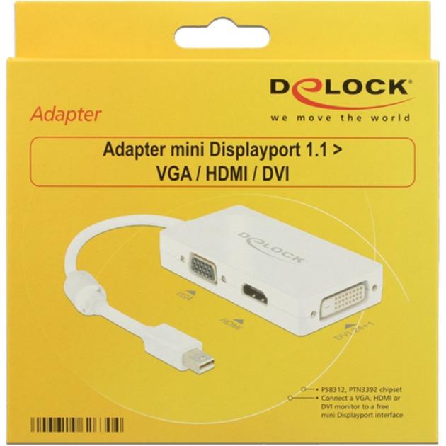 0.16m DisplayPort/VGA + HDMI + DVI 0,16 m Mini DisplayPort Blanco, Adaptador