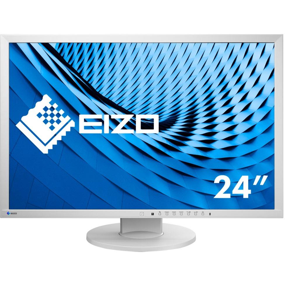 "FlexScan EV2430 24.1"" WUXGA LED Gris pantalla para PC, Monitor LED"
