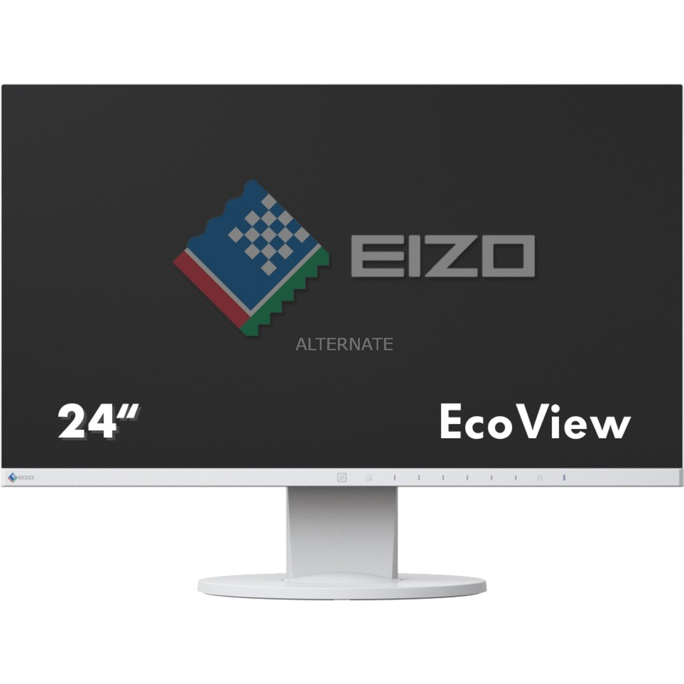 "FlexScan EV2450 23.8"" Full HD LED Plana Blanco pantalla para PC, Monitor LED"