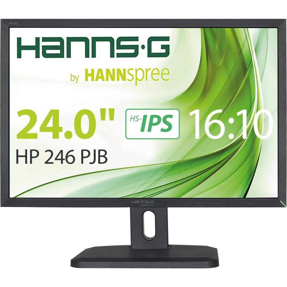 """Hanns.G HP 246 PJB pantalla para PC 61 cm (24"""") WUXGA LCD Mate Negro, Monitor LED"""