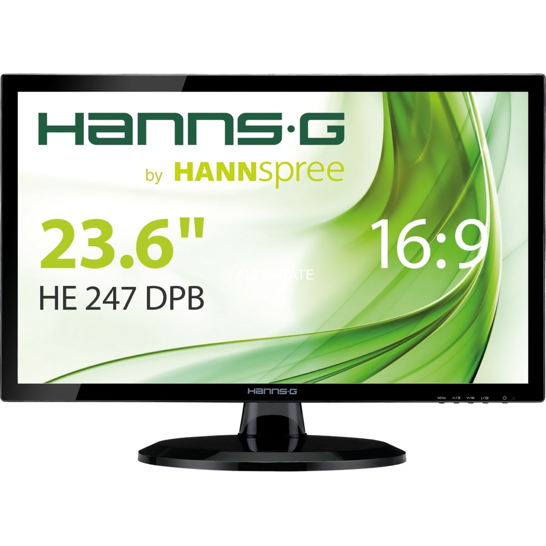 "Hanns.G HE247DPB 23.6"" Full HD Negro pantalla para PC LED display, Monitor LED"