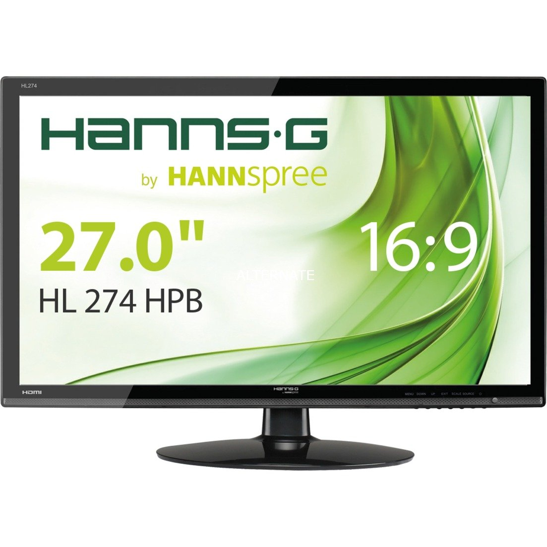 "Hanns.G HL274HPB 27"" Full HD Negro pantalla para PC LED display, Monitor LED"