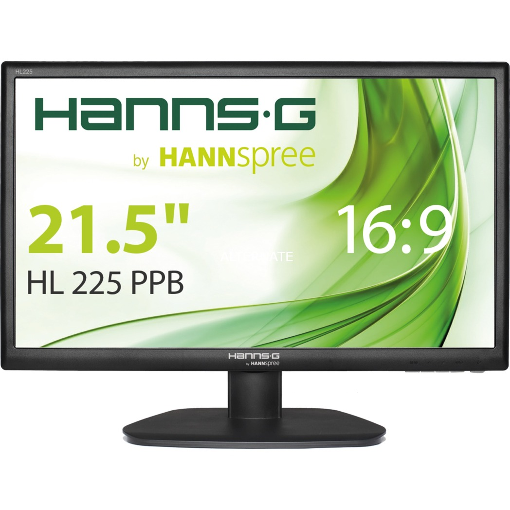 "Hanns.G HL 225 PPB 21.5"" Full HD Negro pantalla para PC, Monitor LED"