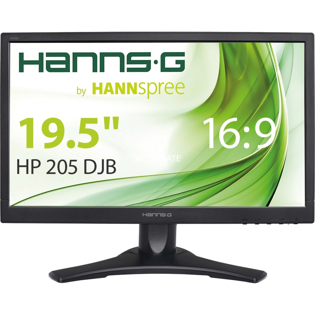 "Hanns.G HP205DJB 19.5"" HD Mate Negro pantalla para PC LED display, Monitor LED"