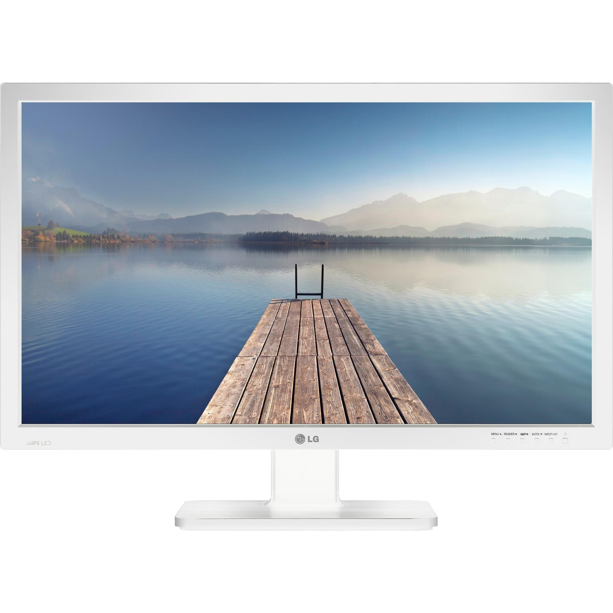 """24BK55WD-W pantalla para PC 61 cm (24"""") WUXGA LCD Blanco, Monitor LED"""
