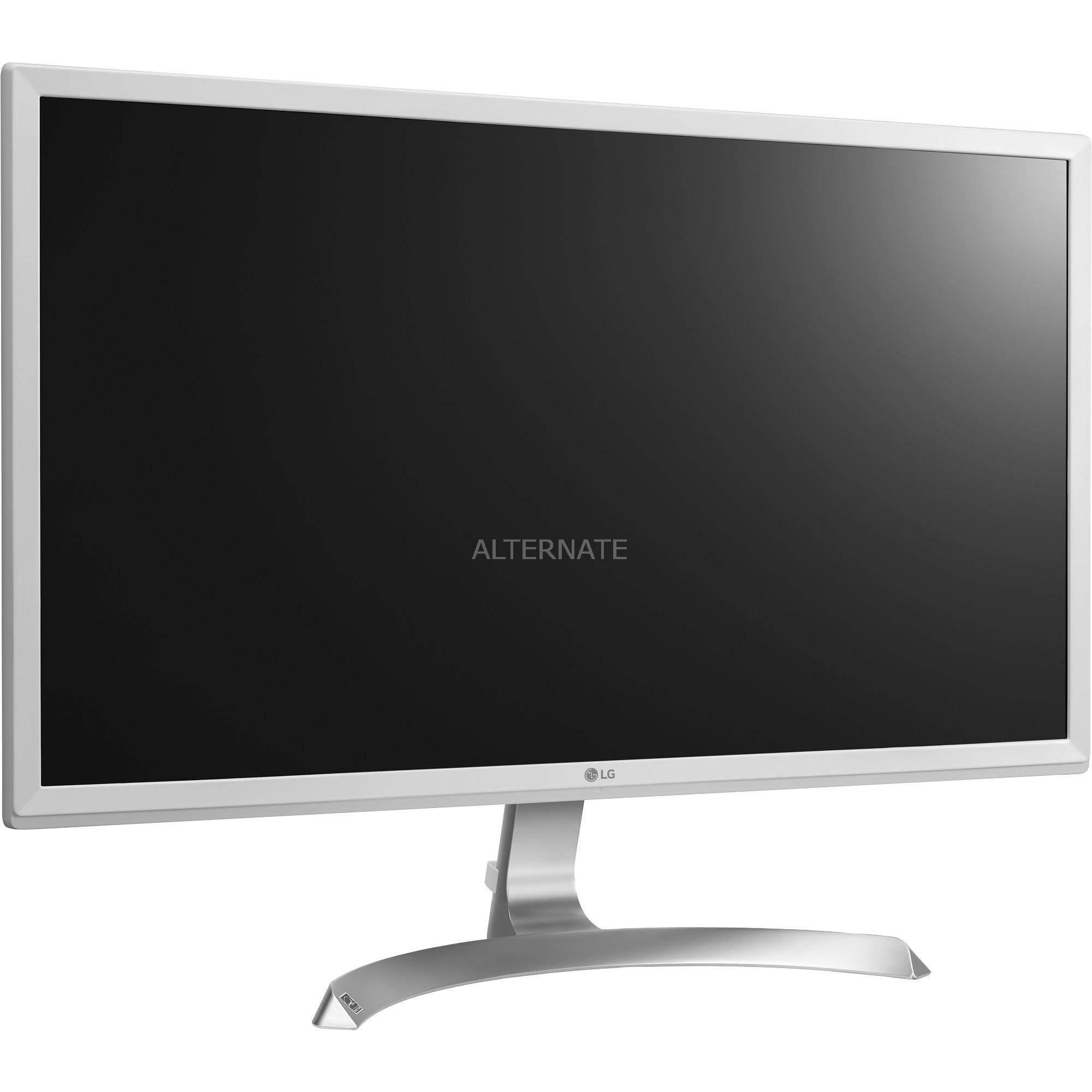 "27UD59-W LED display 68,6 cm (27"") 4K Ultra HD Plana Plata, Blanco, Monitor LED"