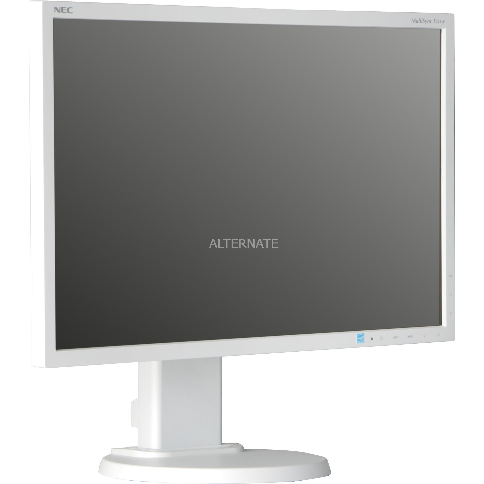"MultiSync E223W 22"" LED Plana Blanco pantalla para PC, Monitor LED"