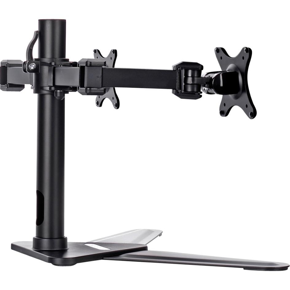 "DS1002D-B1 soporte de mesa para pantalla plana 76,2 cm (30"") Negro, Soporte de pie"