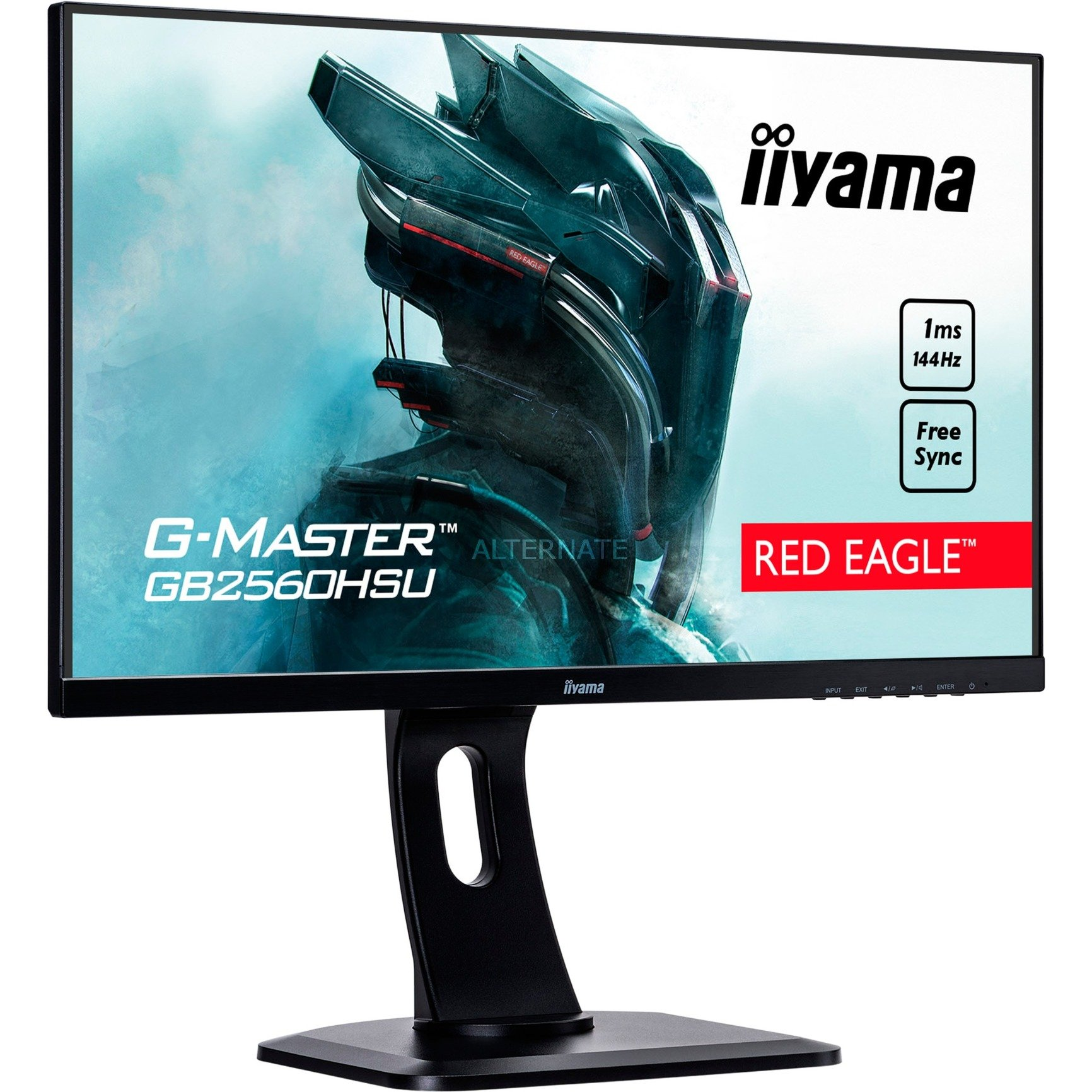 """G-MASTER GB2560HSU-B1 24.5"""" Full HD LED Mate Plana Negro pantalla para PC LED display, Monitor LED"""