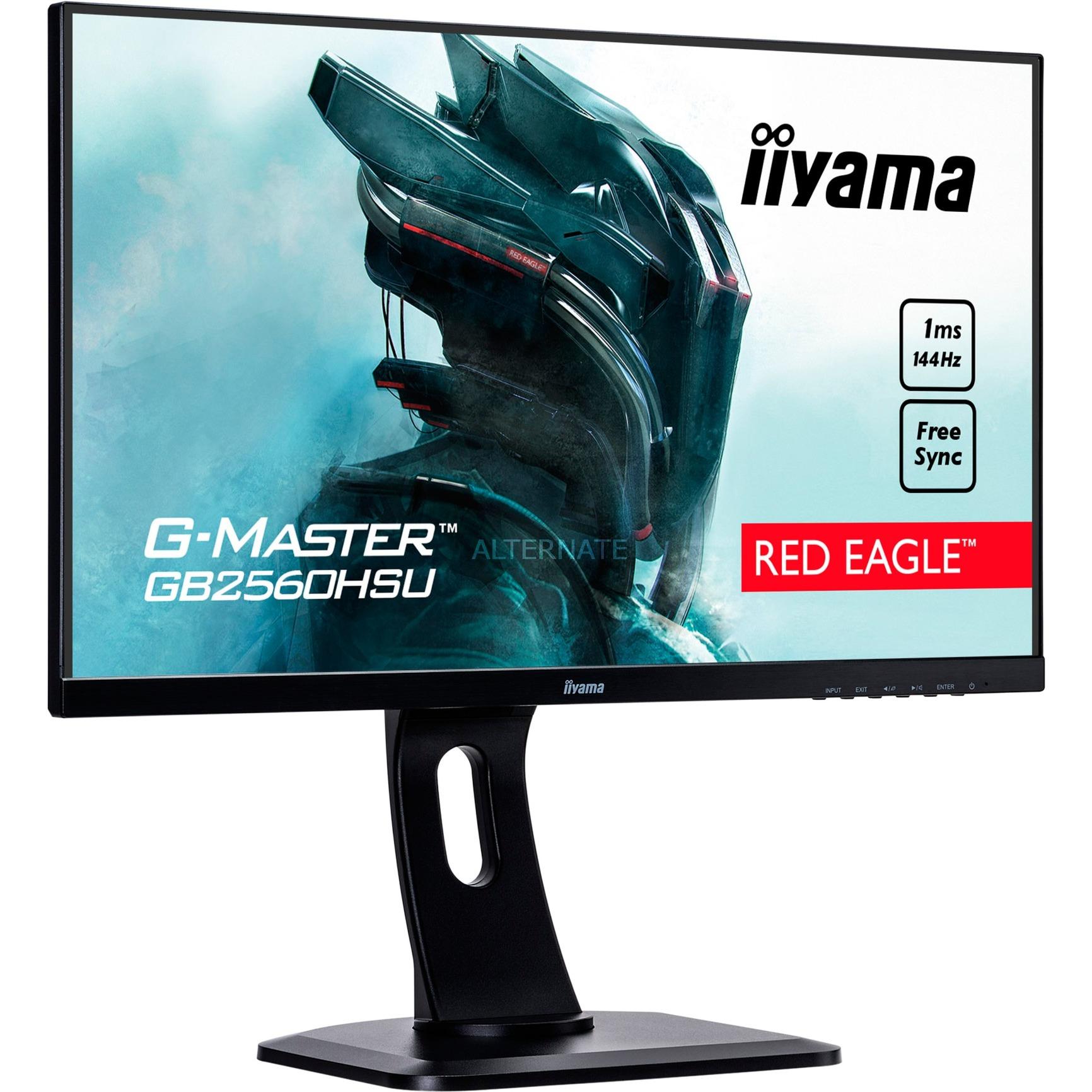 "G-MASTER GB2560HSU-B1 LED display 62,2 cm (24.5"") Full HD LCD Plana Mate Negro, Monitor LED"