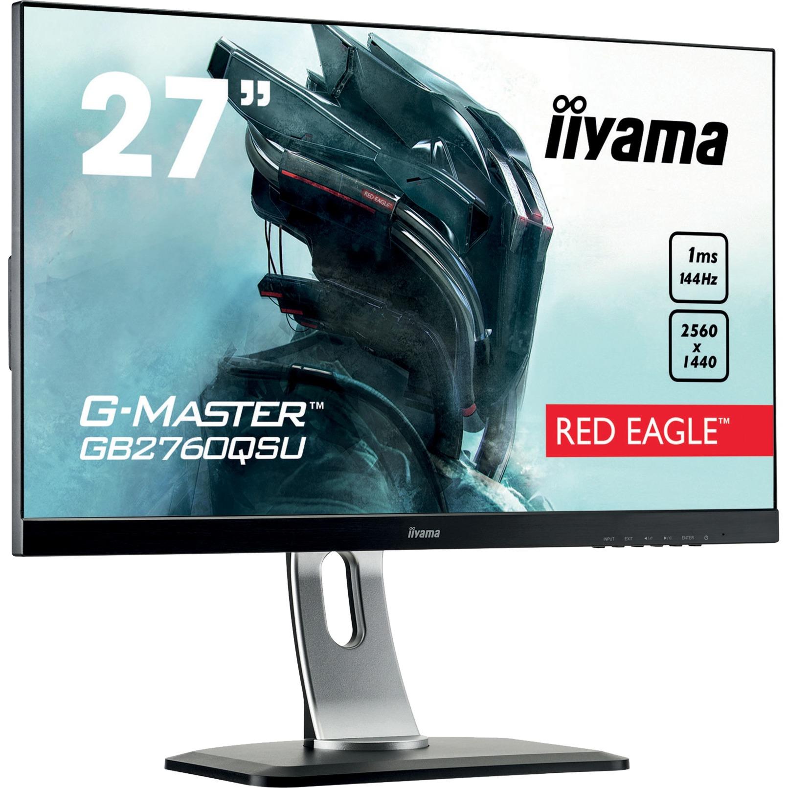 "G-MASTER GB2760QSU-B1 LED display 68,6 cm (27"") Wide Quad HD Plana Mate Negro, Monitor LED"