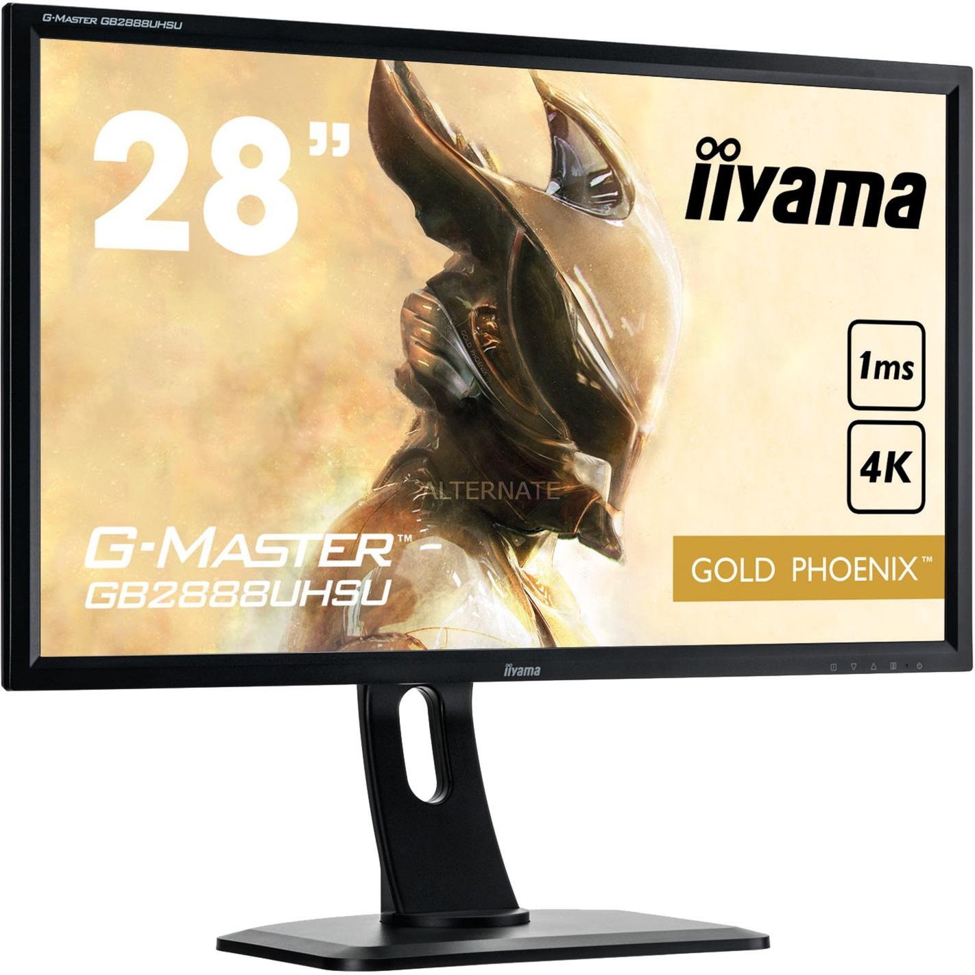 """G-MASTER GB2888UHSU 28"""" 4K Ultra HD TN Mate Negro Plana pantalla para PC, Monitor LED"""