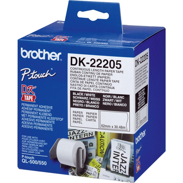 Cinta continua de papel térmico (blanca) cinta para impresora de etiquetas, Cinta de escritura
