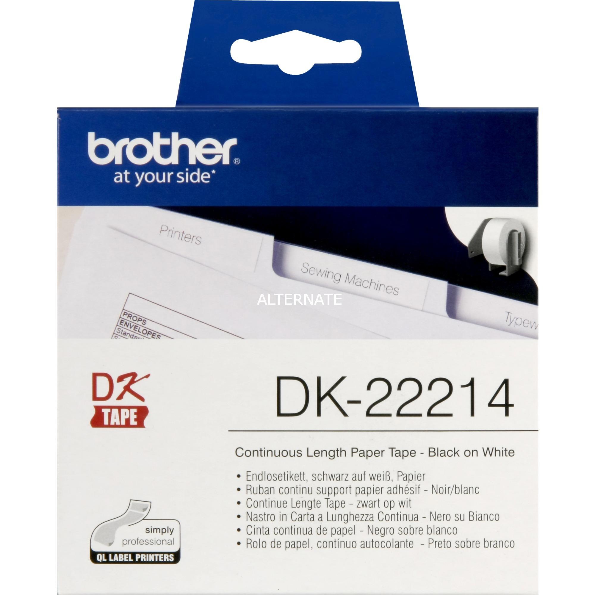 DK-22214 Cinta de papel continuo (12mm)