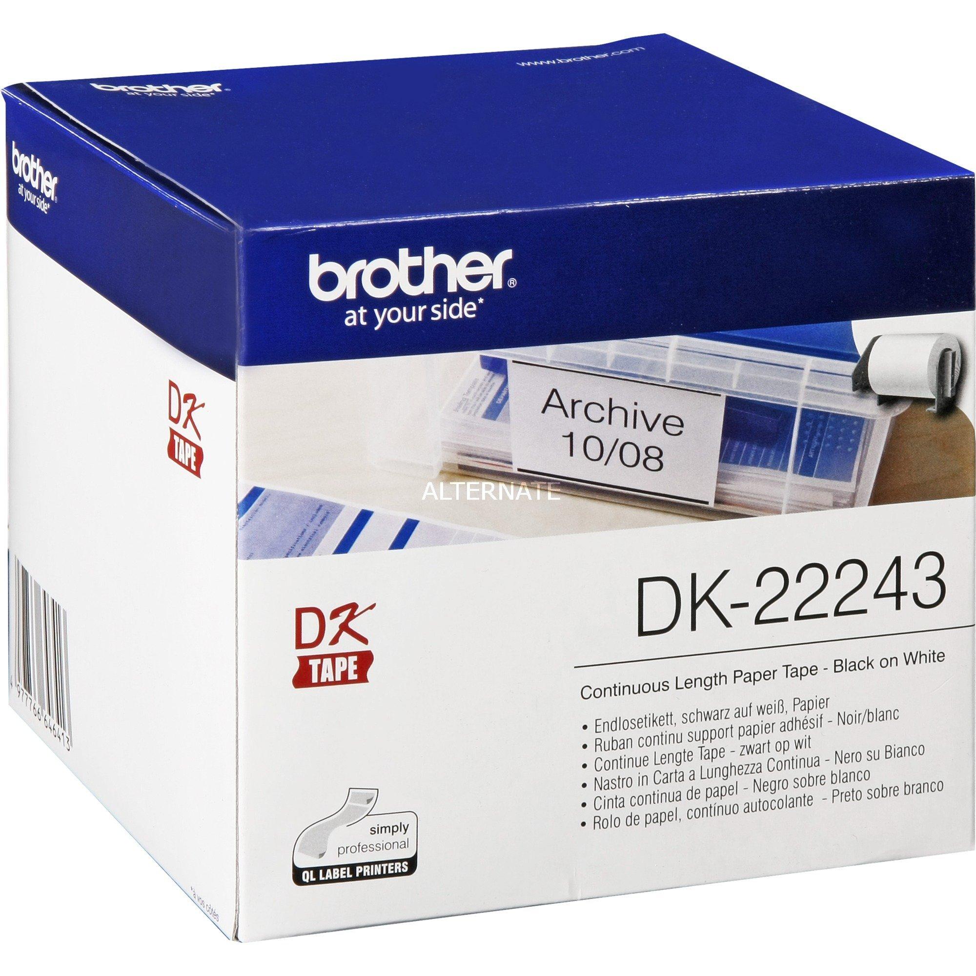 DK-22243 cinta para impresora de etiquetas, Cinta de escritura