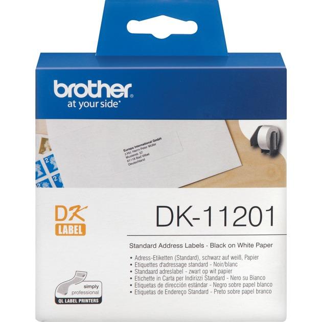 Etiquetas precortadas de dirección estándar cinta para impresora de etiquetas, Cinta de escritura