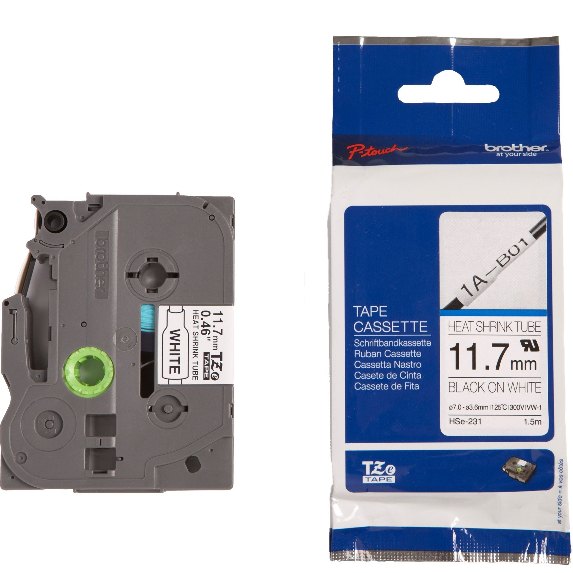 HSE-231 cinta para impresora de etiquetas TZe, Tubo termoretráctil para etiquetas