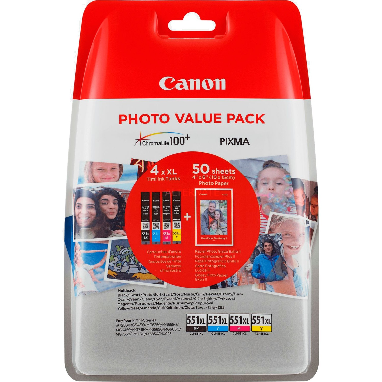 6443B006 cartucho de tinta Original Foto negro, Fotos cian, Foto magenta, Photo yellow Multipack