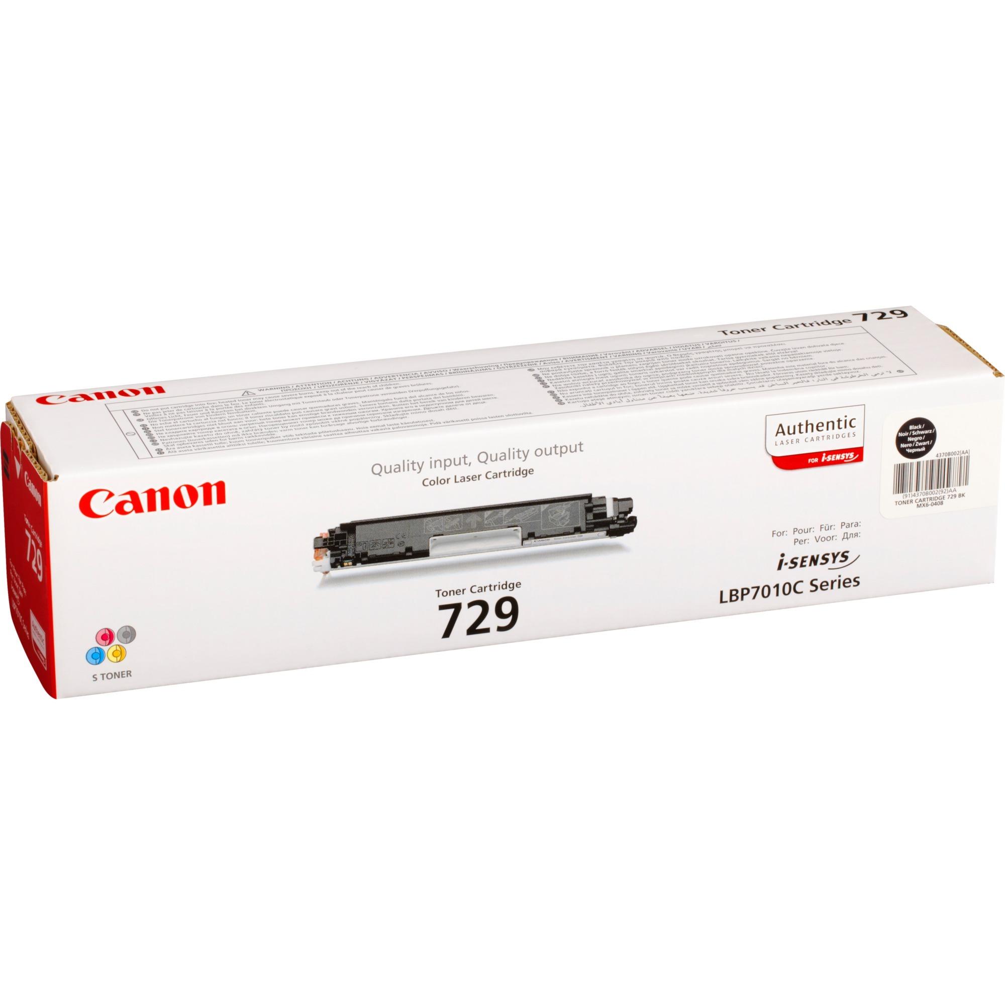 729 BK Laser cartridge 1200páginas Negro, Tóner