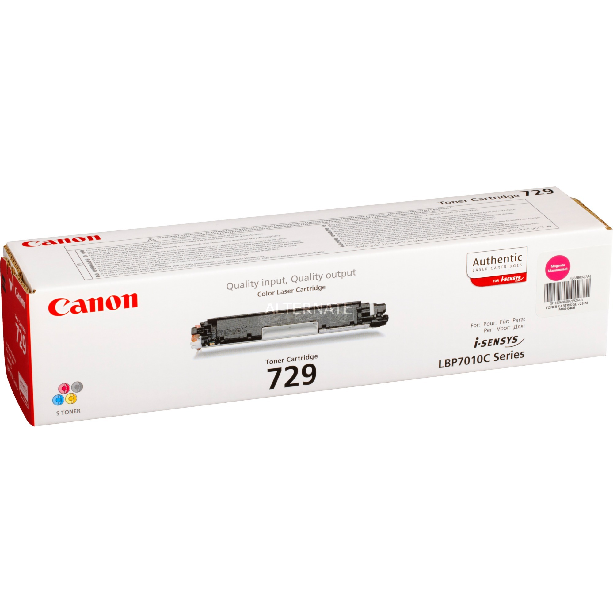 729 M Laser cartridge 1000páginas Magenta, Tóner