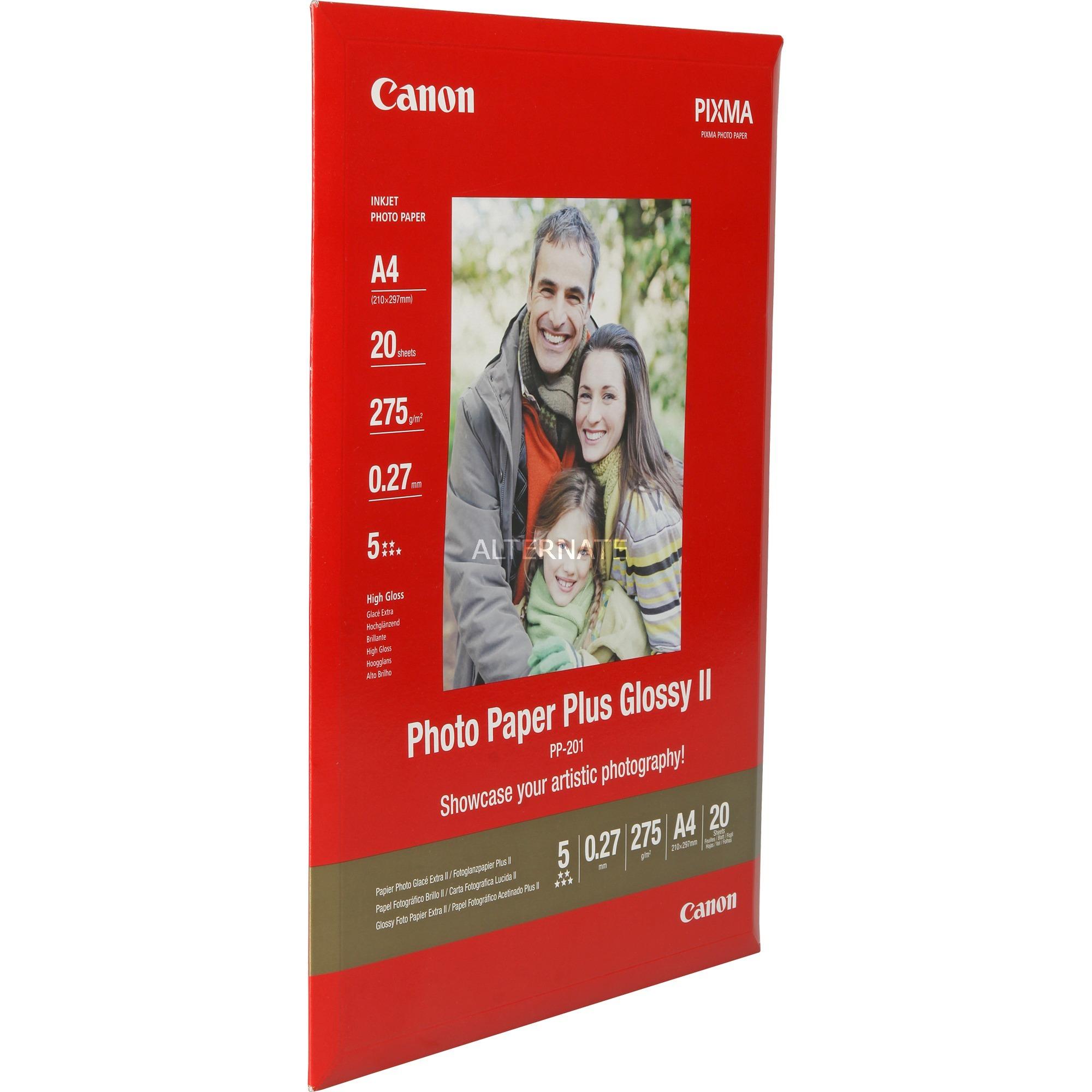 PP-201 papel fotográfico Blanco Brillo A4