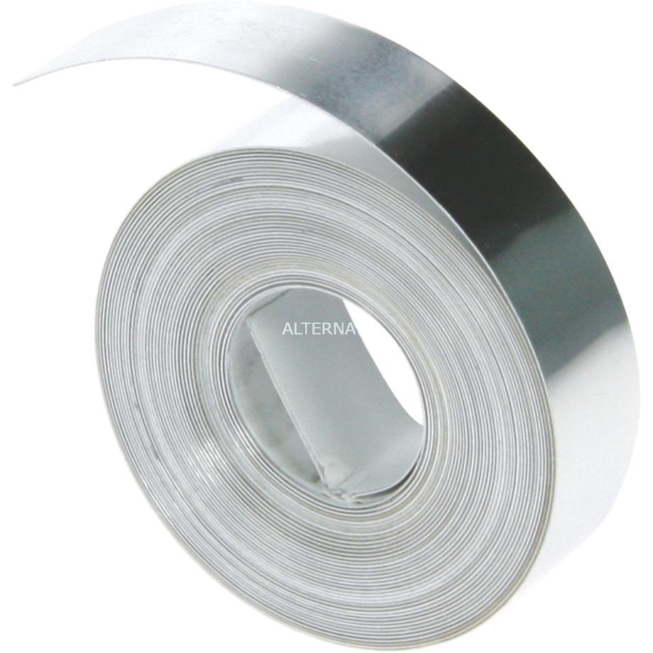 12mm Aluminum w/Adhesive Tape cinta para impresora de etiquetas, Cinta de escritura
