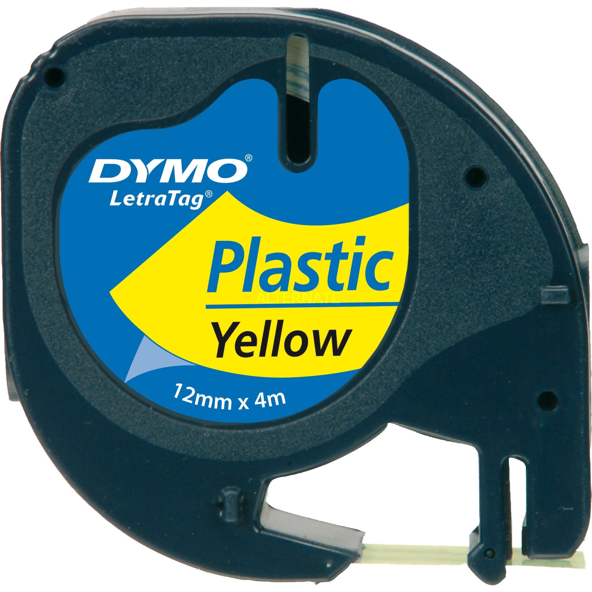 12mm LetraTAG Plastic tape cinta para impresora de etiquetas, Cinta de escritura