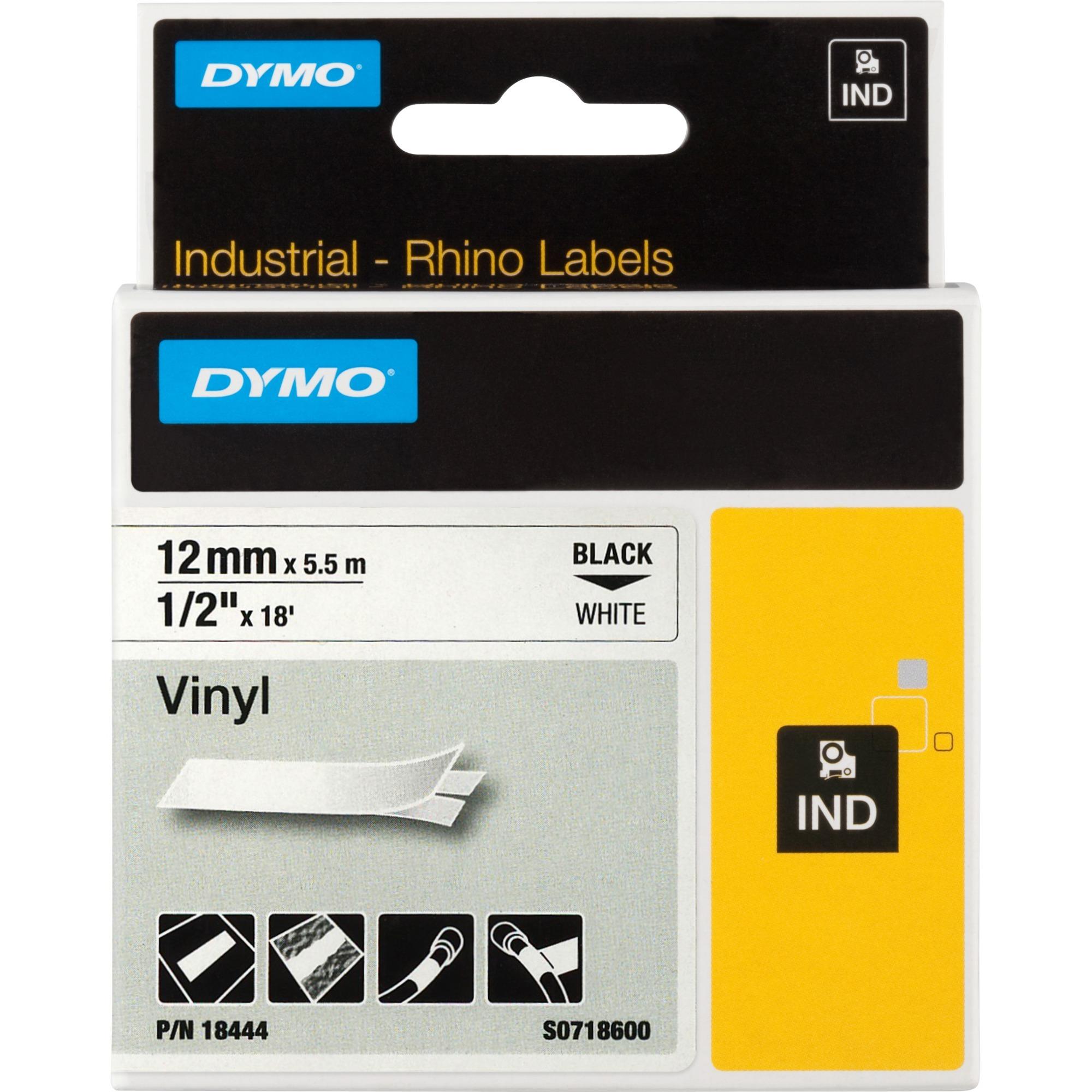 12mm RHINO Coloured vinyl cinta para impresora de etiquetas D1, Cinta de escritura