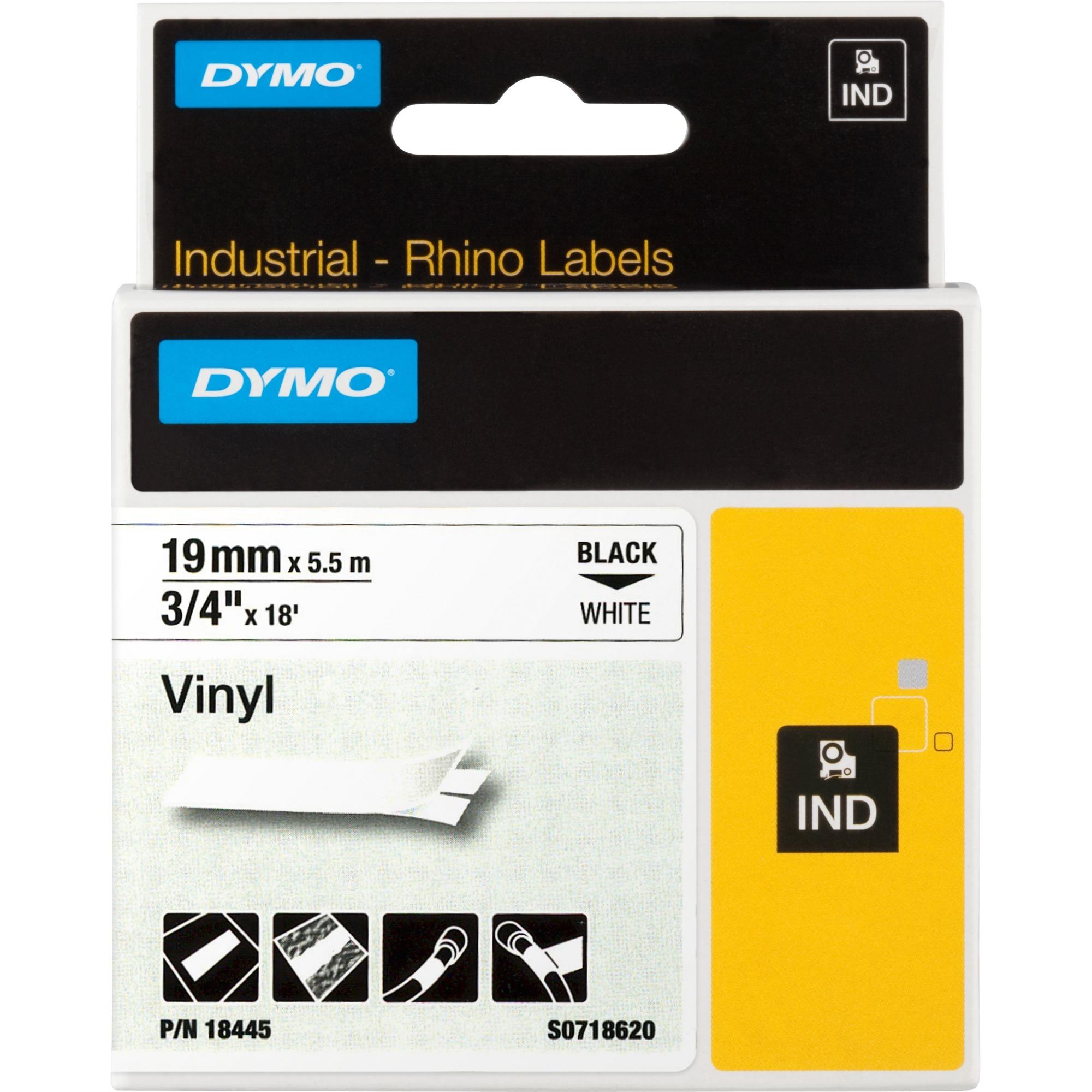 19mm RHINO Coloured Vinyl cinta para impresora de etiquetas D1, Cinta de escritura