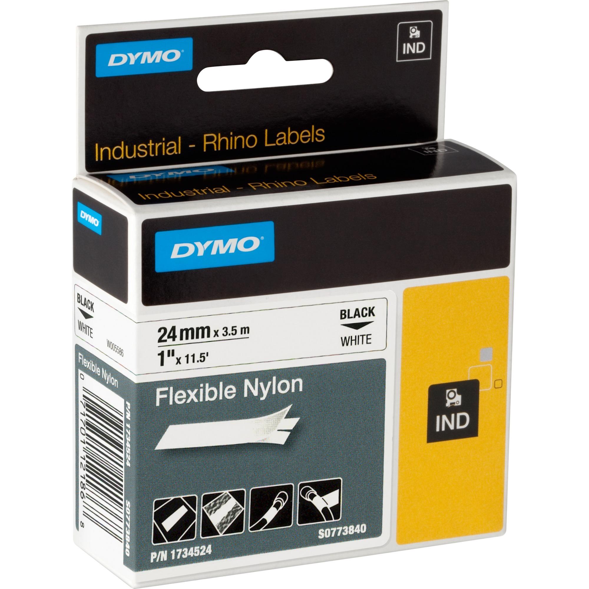 24mm Flexible Nylon Tape D1 cinta para impresora de etiquetas, Cinta de escritura