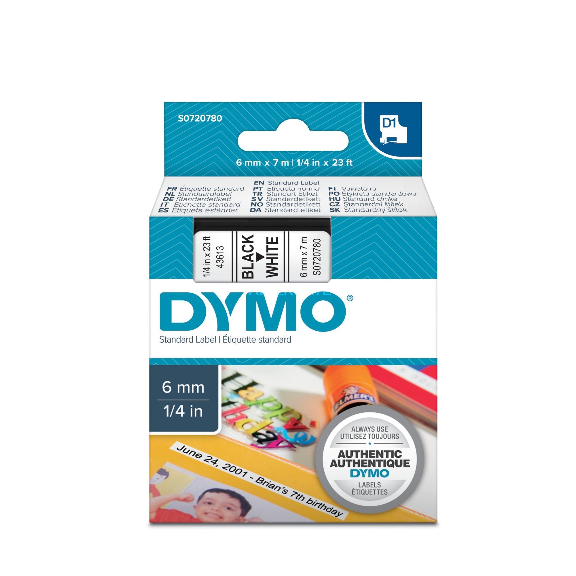 D1 Standard cinta para impresora de etiquetas, Cinta de escritura