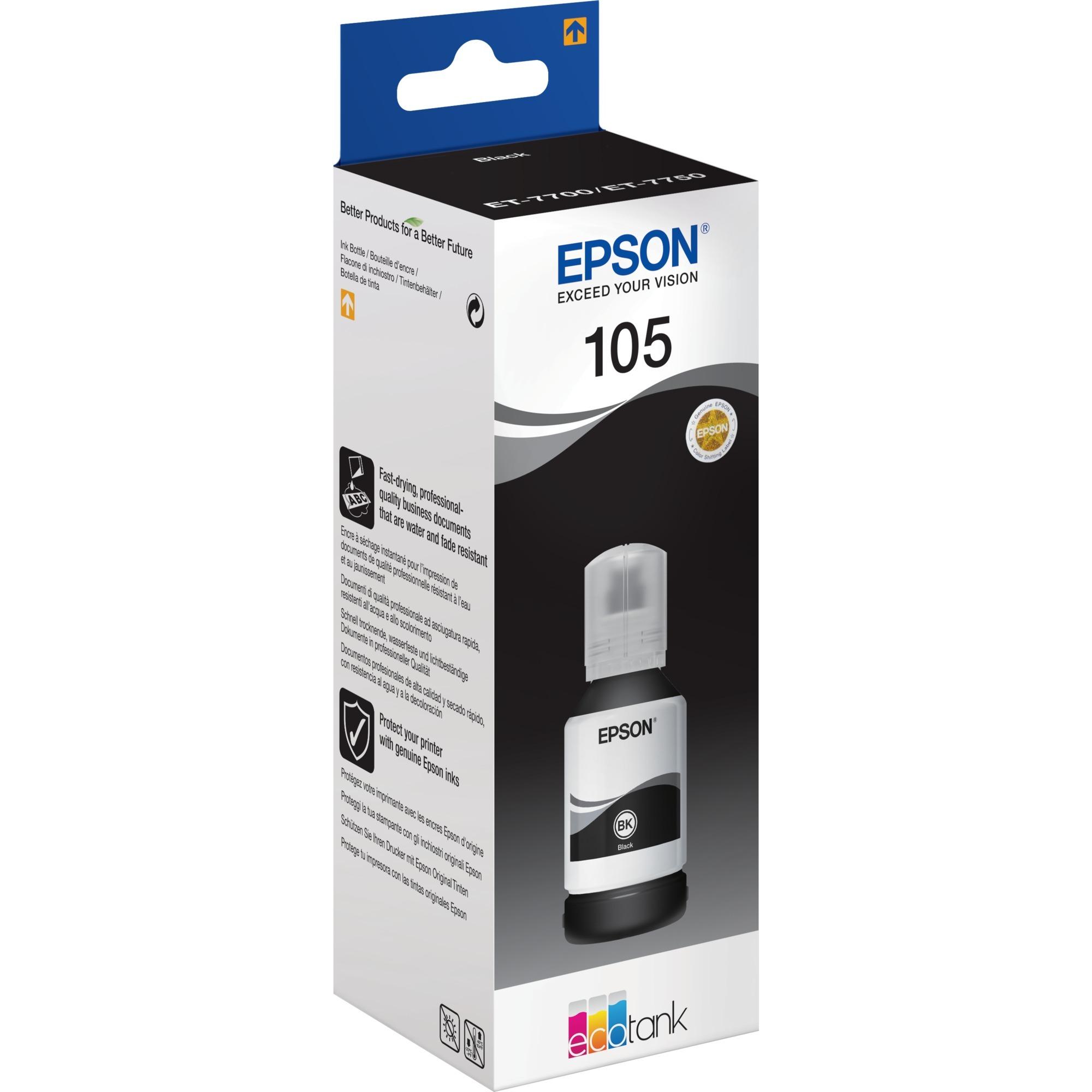 105 EcoTank Pigment Black ink bottle, Tinta