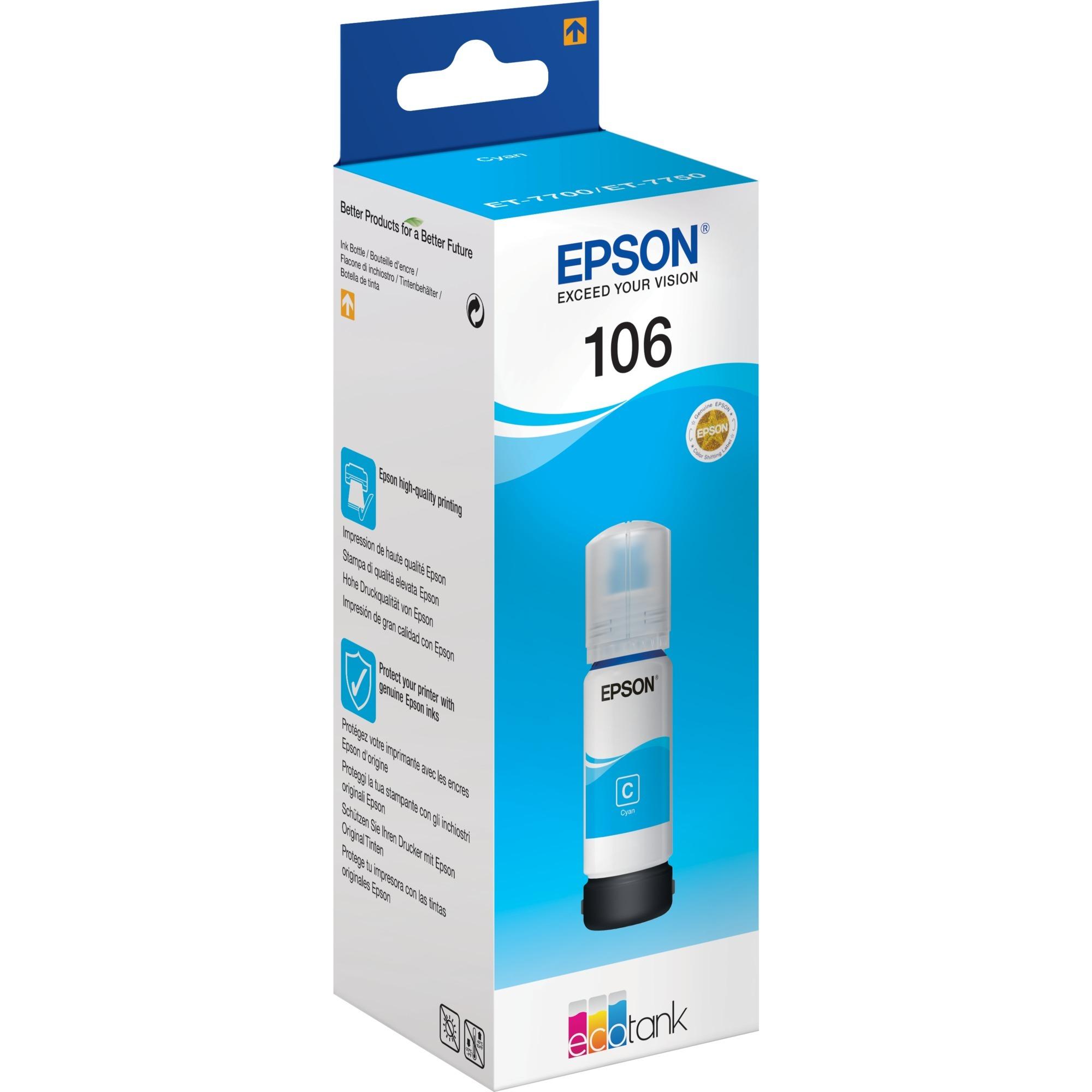 106 EcoTank Cyan ink bottle cartucho de tinta