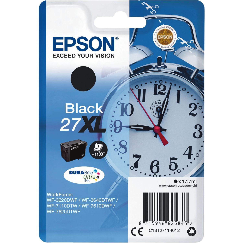 Alarm clock Singlepack Black 27XL DURABrite Ultra Ink, Tinta