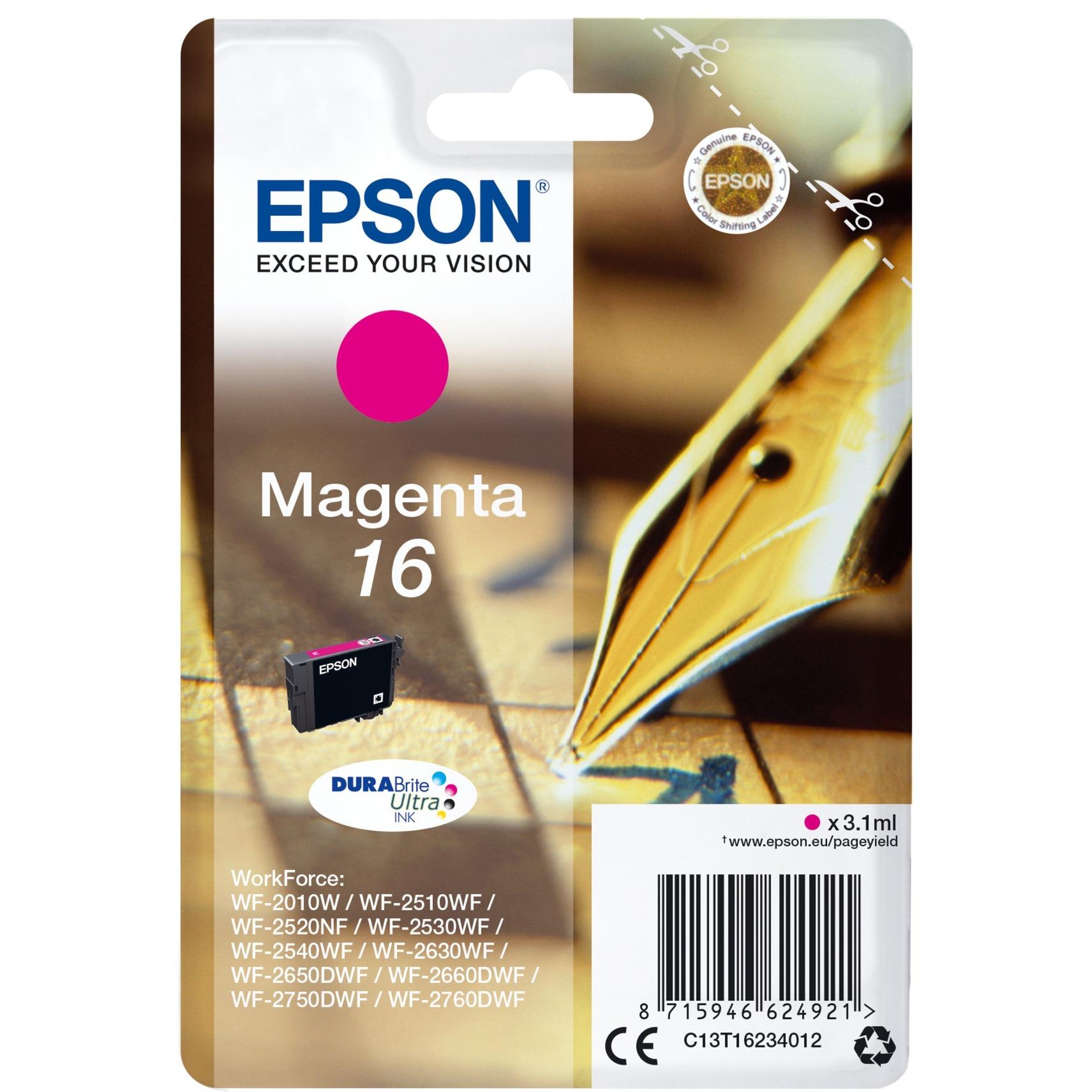C13T16234012 3.1ml Magenta cartucho de tinta